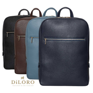 Backpack, Leather Backpack Italian Calf Skin Leather - Made in Italy for DiLoro