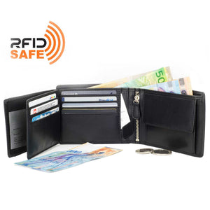 Wallet, Mens Leather Wallets, Card Wallet, RFID Safe Wallet by DiLoro. Makes a great gift for the holidays, father's day, graduation, groomsmen, wedding gift
