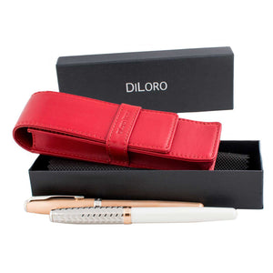 DiLoro Leather Pen Holders - Swiss Design
