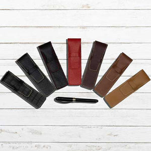 DiLoro Single Pen Sleeves Buffalo Leather