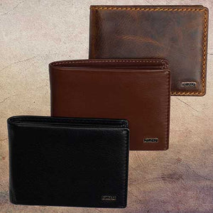 DiLoro Compact Leather Coin Wallets with RFID Protection