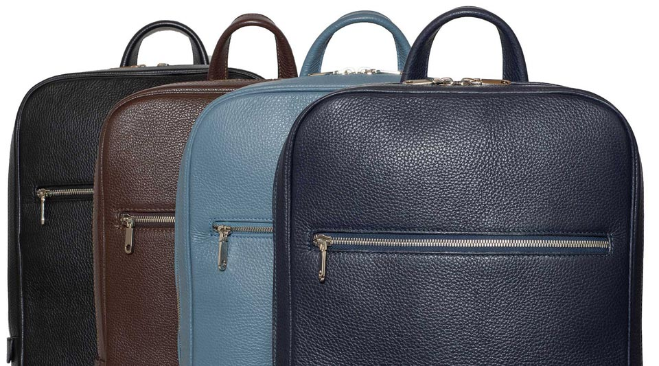 Classic Italian Leather Backpacks by DiLoro Switzerland  - Made in Italy