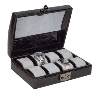 DiLoro Italian Leather Watch Cases. Made in Italy - Swiss Design Protect your favorite Rolex watch in a beautiful DiLoro leather travel watch case.