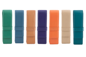 DiLoro Leather Double Pen and Pencil Holder - New Colors