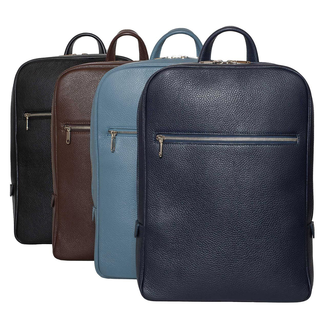 DiLoro Italian Leather Backpack in various colors. These classic backpacks are handmade in Italy, full grain leather and superior workmanship.