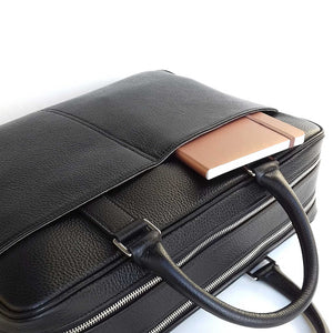 DiLoro Italian Leather Briefcases for Men | Made in Italy - Side View