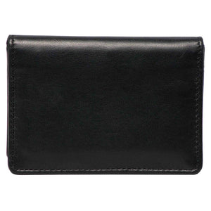 DiLoro Italy RFID Blocking Bifold Slim Genuine Leather Business Card Wallets - Front View