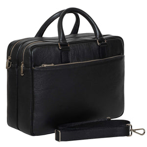 DiLoro Italian Leather Briefcases for Men Made in Italy - Removable Shoulder Strap