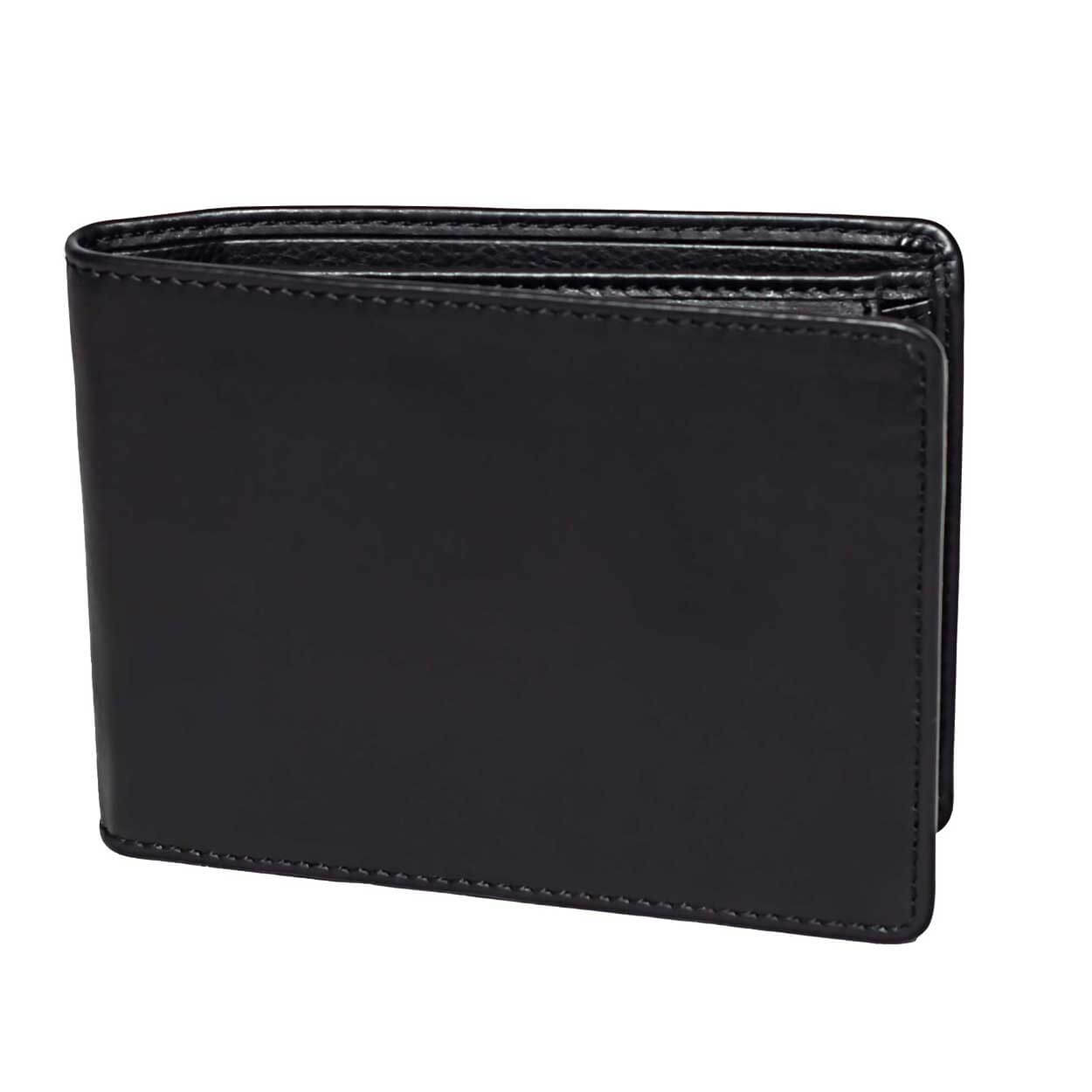 DiLoro Men's Leather Bifold Wallet with Flip ID, Coin Wallet and RFID Blocking Technology - Front View
