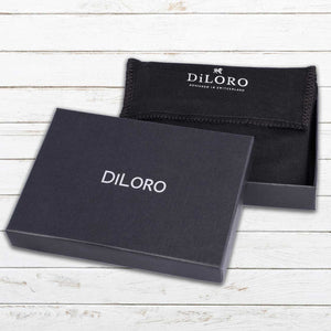 DiLoro Men's Bifold Leather Wallet Lugano Collection Bugatti Tan with Dust Bag and Gift Box