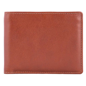 DiLoro Men's Bifold Leather Wallet Lugano Collection Bugatti Tan