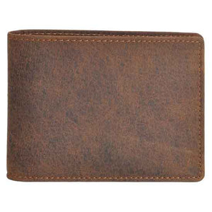 Wallet by DiLoro Italy - Full Grain Leather - Slim Bifold Men's Wallet with RFID Blocking Technology in Dark Hunter Brown