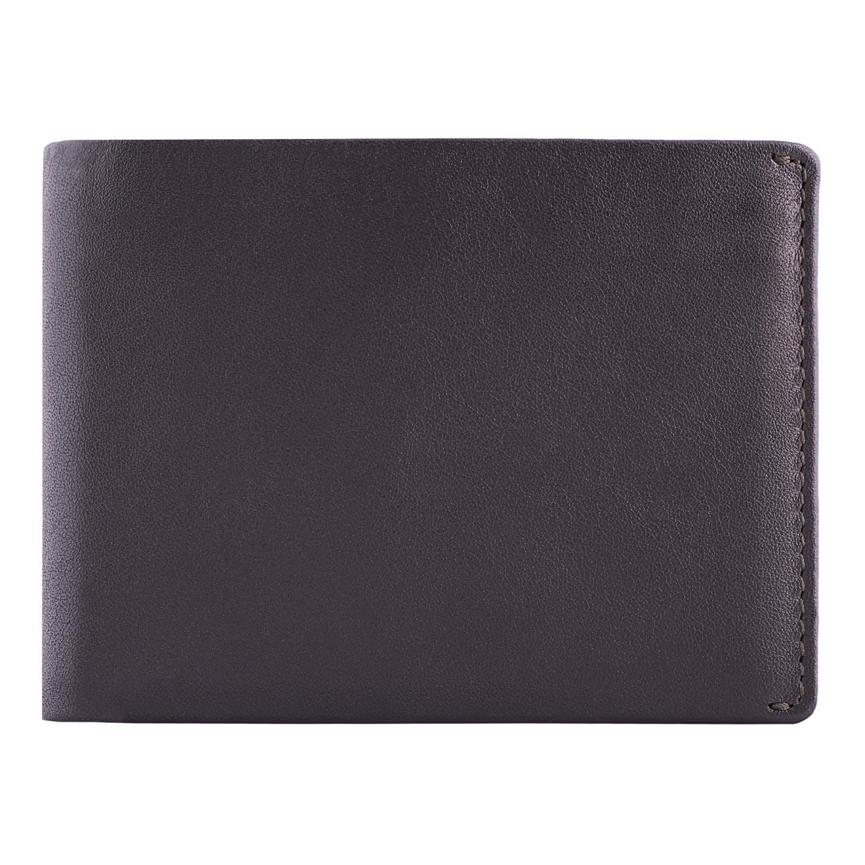 DiLoro Men's Leather Wallet Bifold 2 ID Windows RFID Protection -  Napa Brown Front View