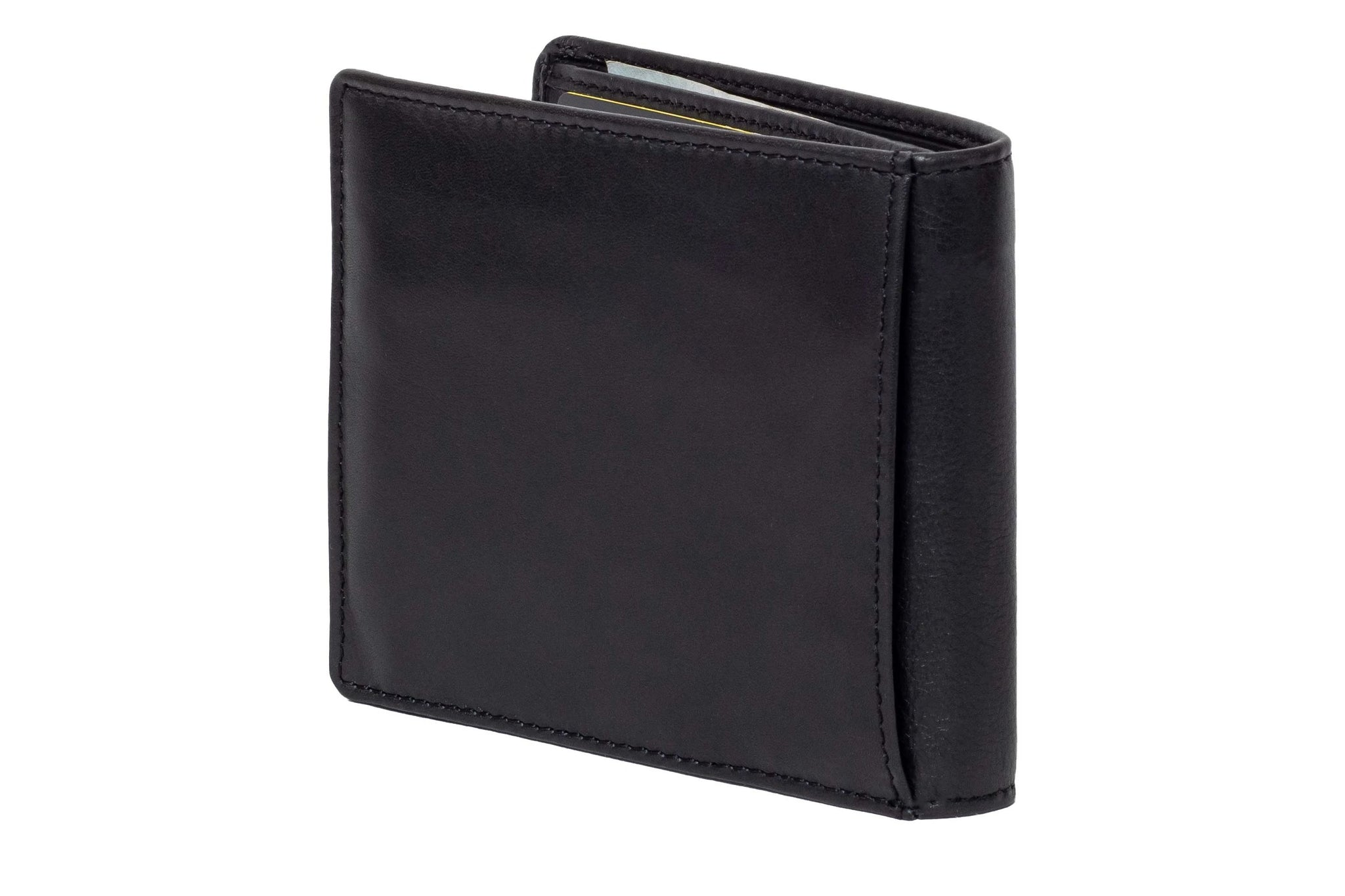 DiLoro Men's Leather Wallets RFID Blocking Removable Card Wallet Black - Back View
