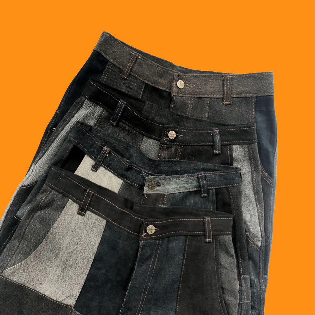 Rework Vintage Patchwork Jeans in Black