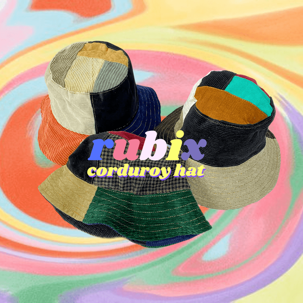 *NEW* Rubix Corduroy Patchwork Bucket Hat