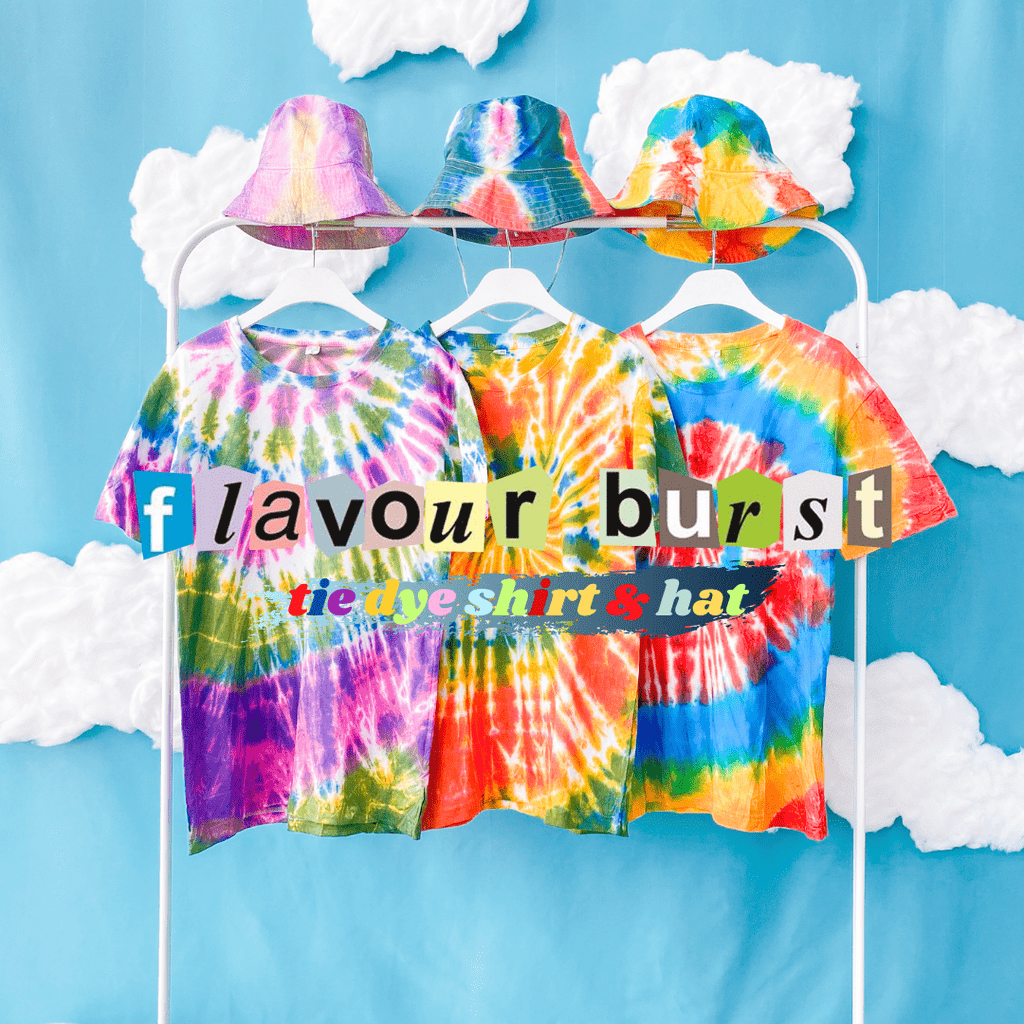 REWORK Tie Dye Tee + Bucket Hat Set