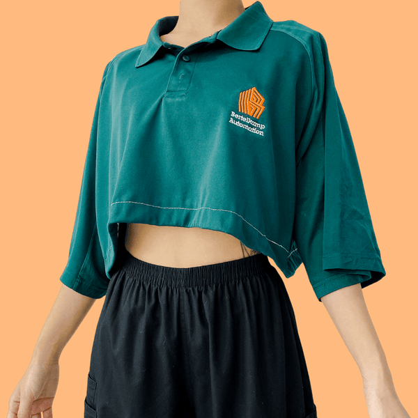 👕REWORK 90s Crop Polo in Solid