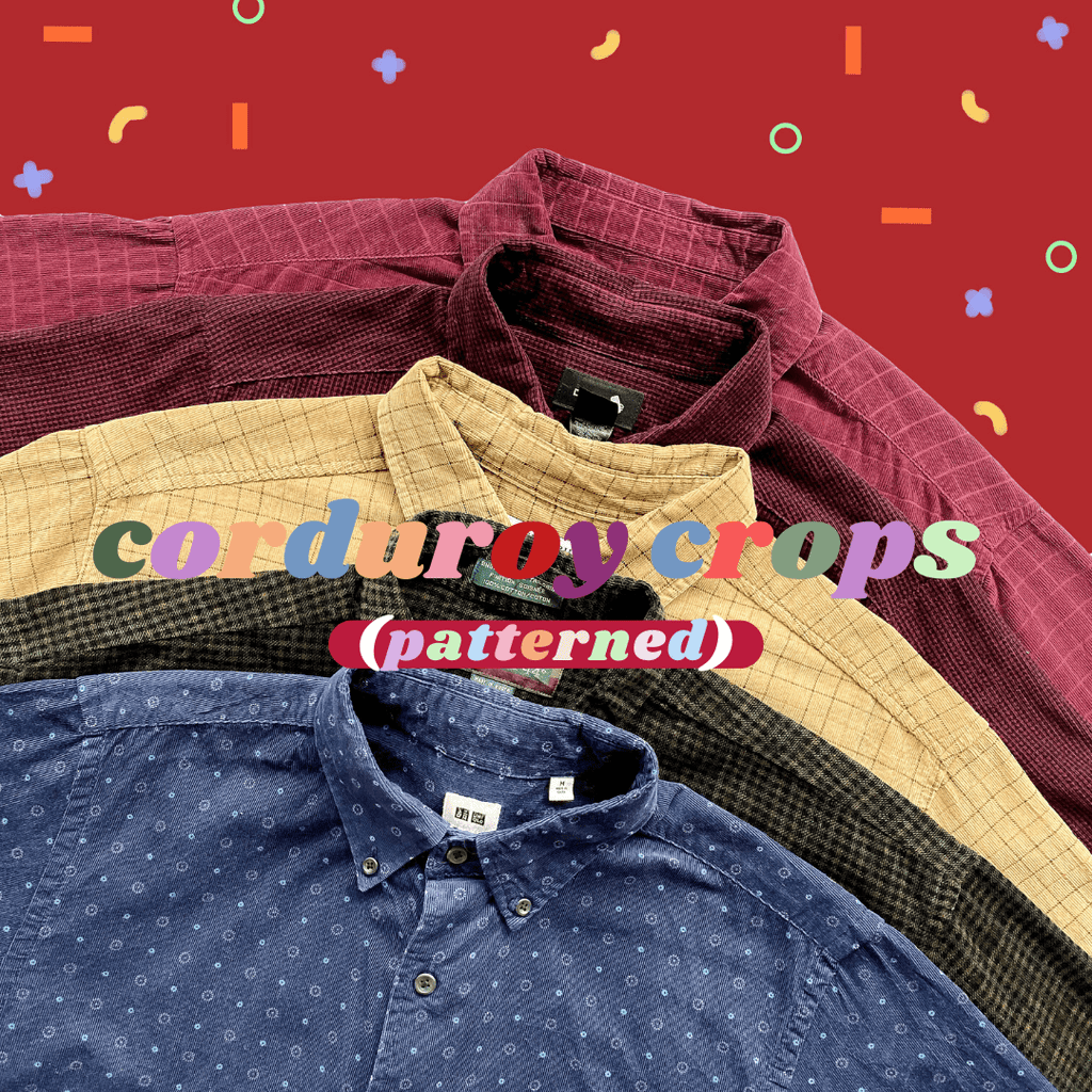 Patterned Corduroy Cropped Shirts Mystery Bag
