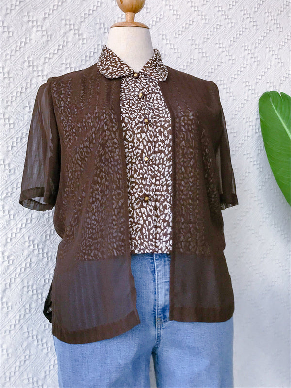 UK12-14 Vintage Blouse BL164