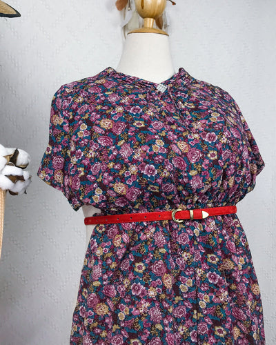 PLUS SIZE Vintage Midi Dress DR191