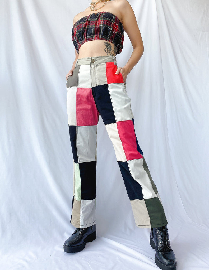 Size 31' Rubix Cotton Patchwork Pants JE355