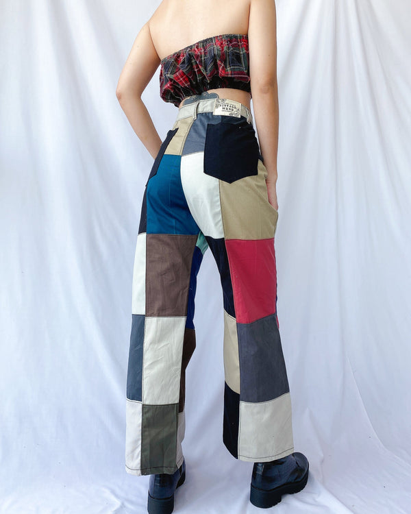 Size 32' Rubix Cotton Patchwork Pants JE365