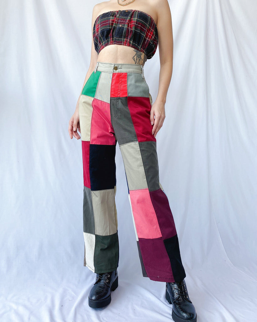 Size 32' Rubix Cotton Patchwork Pants JE367