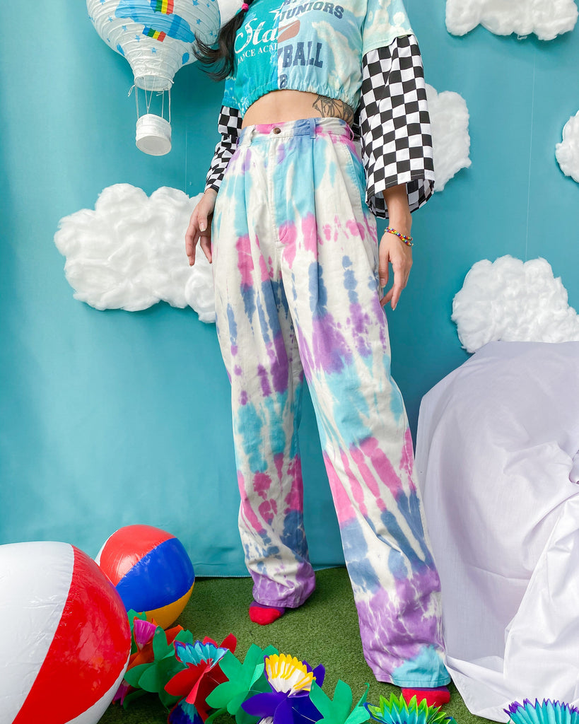 Size 25' Tie Dye Pleated Pants JE525