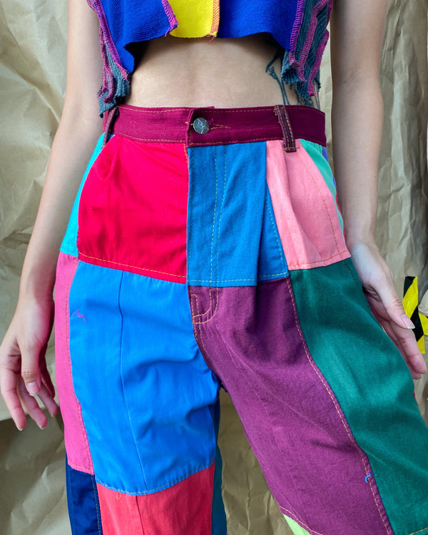 Size 27' Rubix Cotton Patchwork Pants JE569