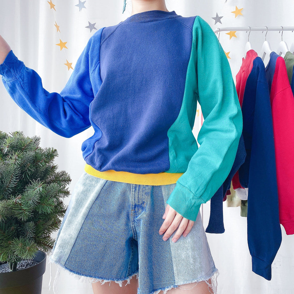 UK16-18 Colourblock Sweater OT857