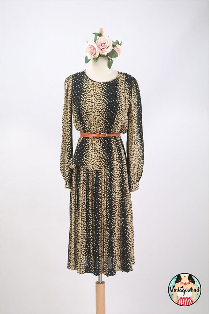 UK12-14 Vintage Midi Dress SP240
