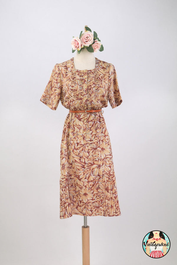UK12-14 Vintage Midi Dress SP243