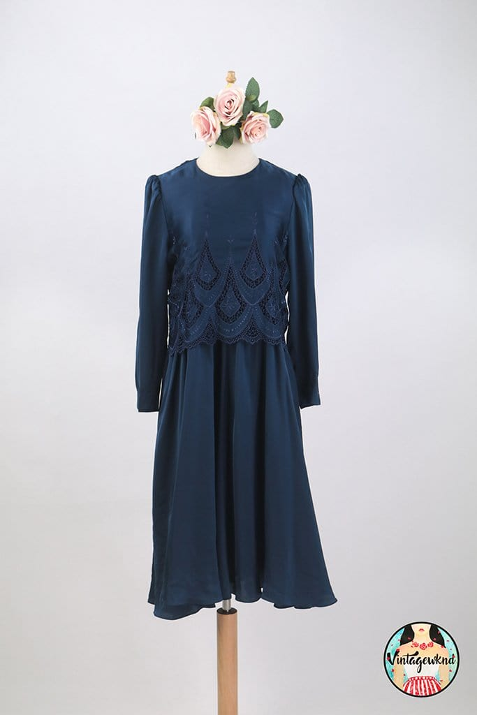UK8-10 Vintage Midi Dress SP252