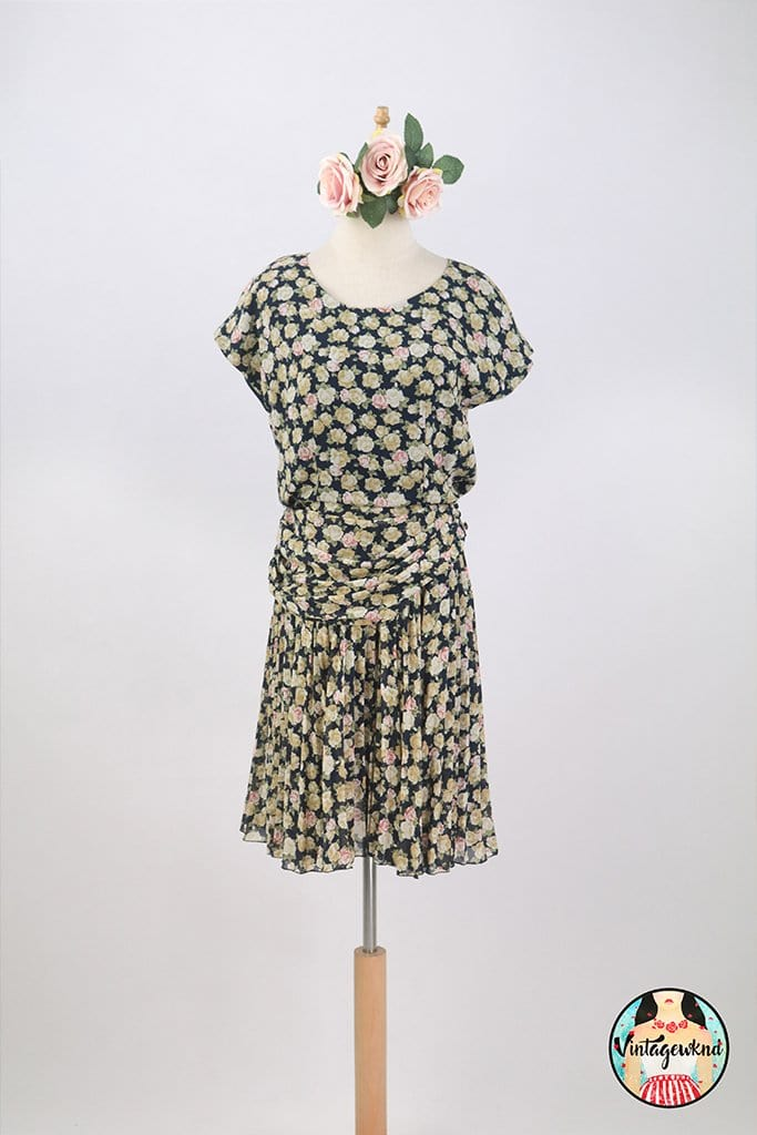 UK12-14 Vintage Midi Dress SP253