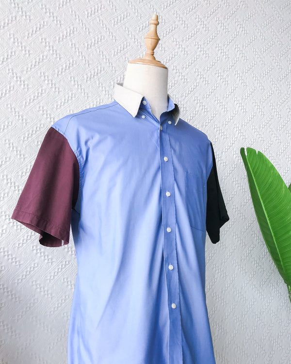 Size: 3XL Colourblock Shirt TO550