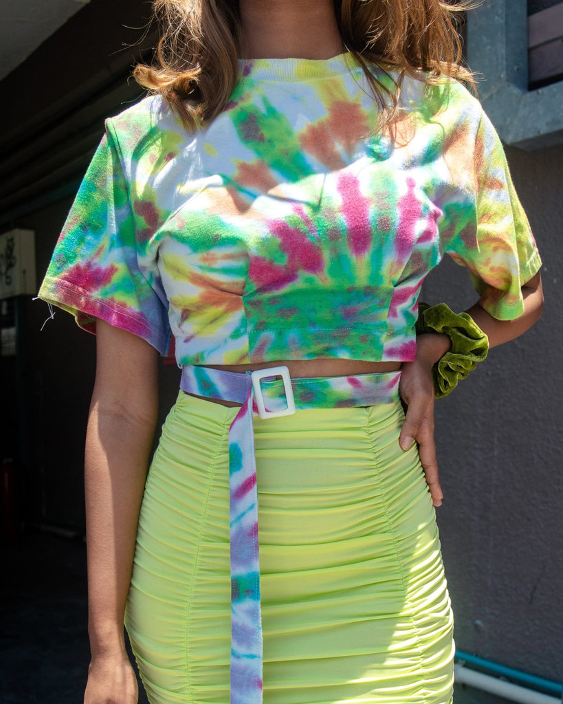 UK2-8 Rework Vintage Tie Dye Crop VB3591