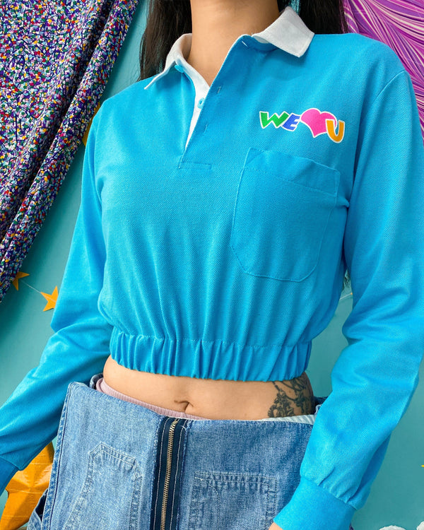 UK12-14 90s/Y2K Polo Crop VB5002