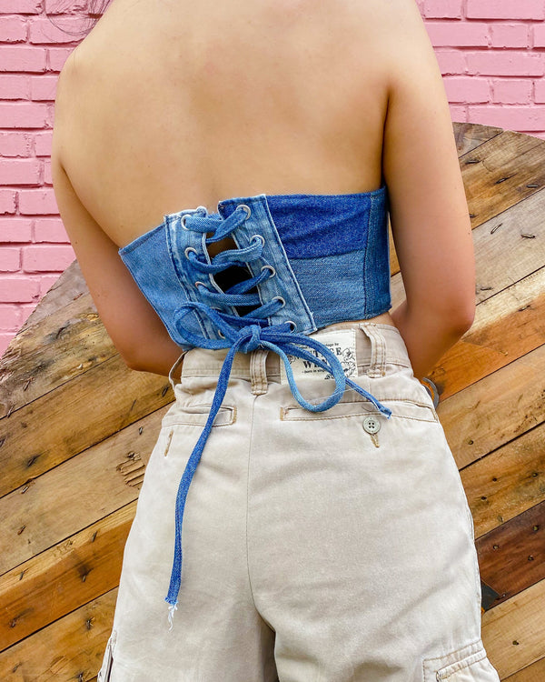 Compound Denim Corset VB5172