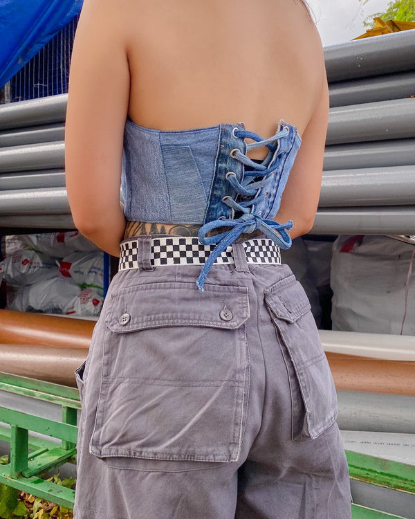 Compound Denim Corset VB5173
