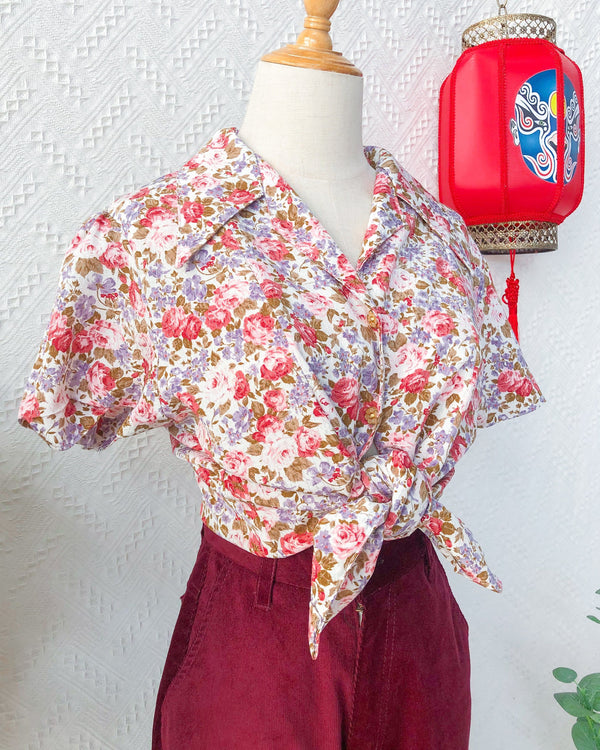 UK16-18 Vintage Blouse VB5406