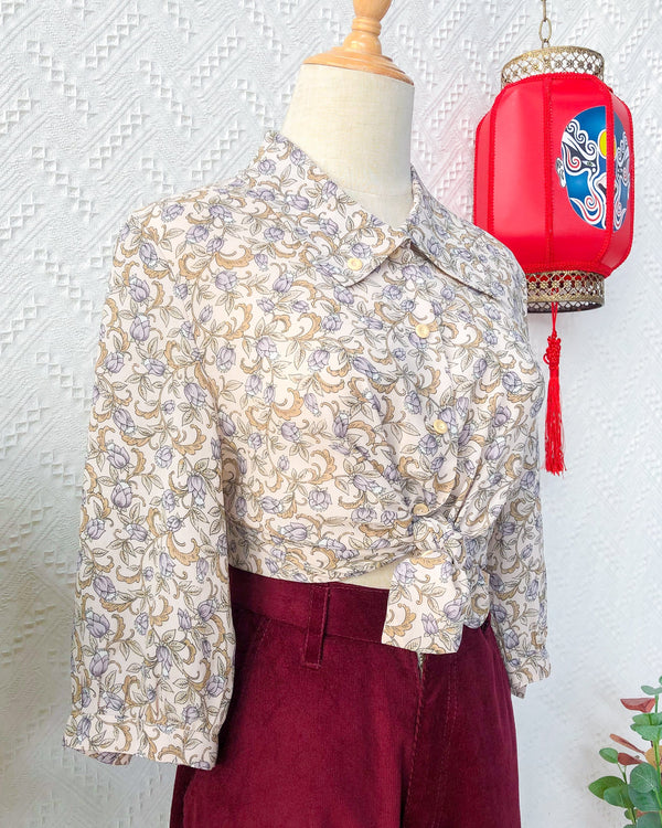 UK12-14 Vintage Blouse VB5411