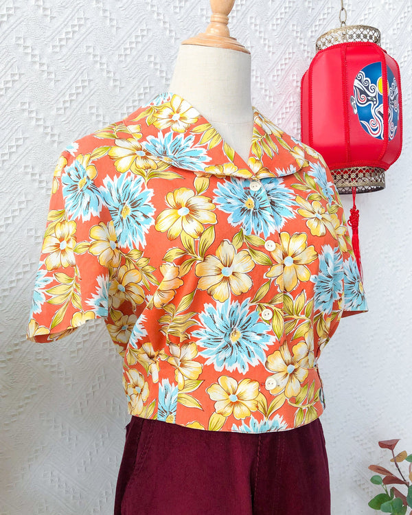 UK16-18 Vintage Blouse VB5416