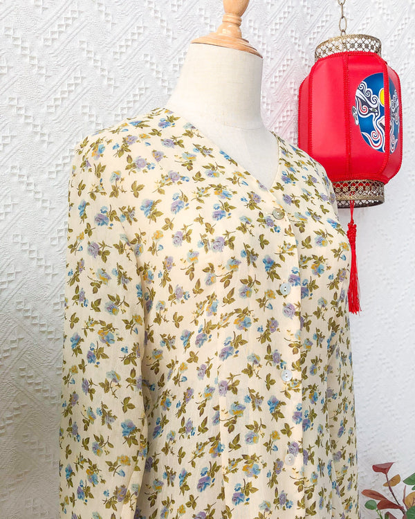 UK12-14 Vintage Blouse VB5417