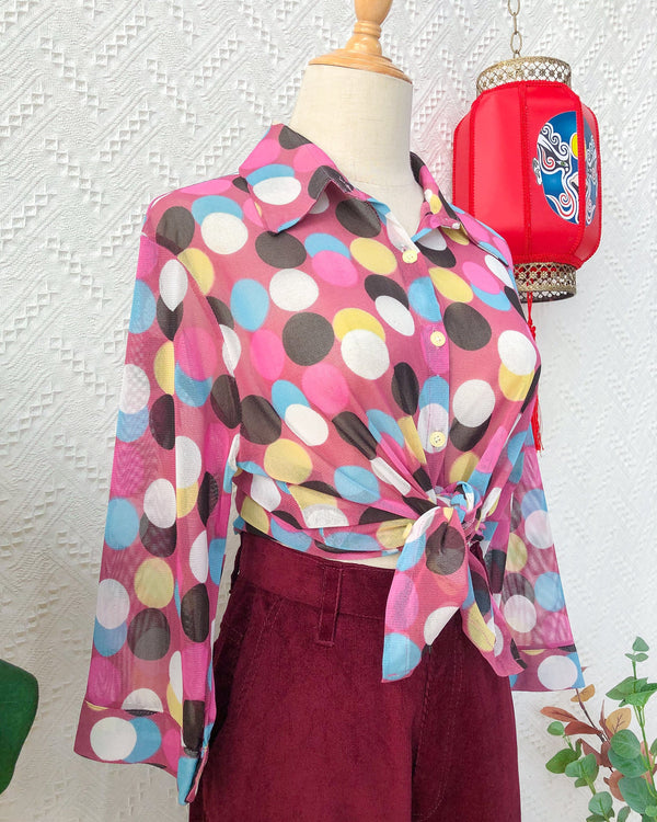 UK16-18 Vintage Blouse VB5423