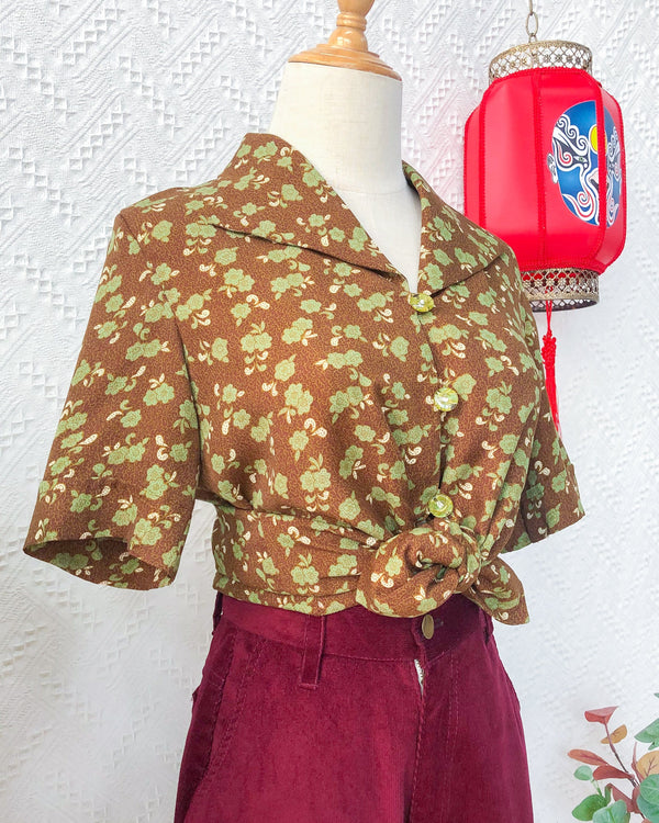 UK12-14 Vintage Blouse VB5426