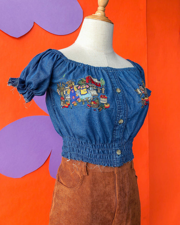 Denim Prairie Top VB5463