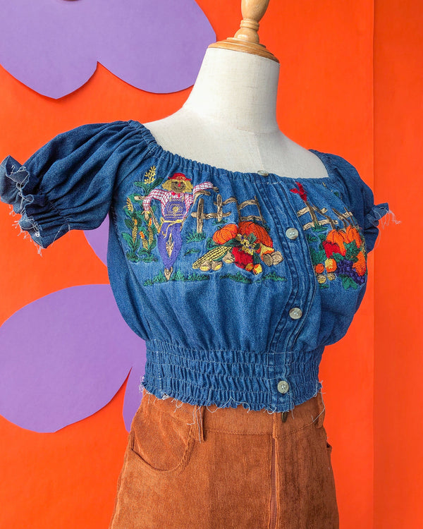 Denim Prairie Top VB5464
