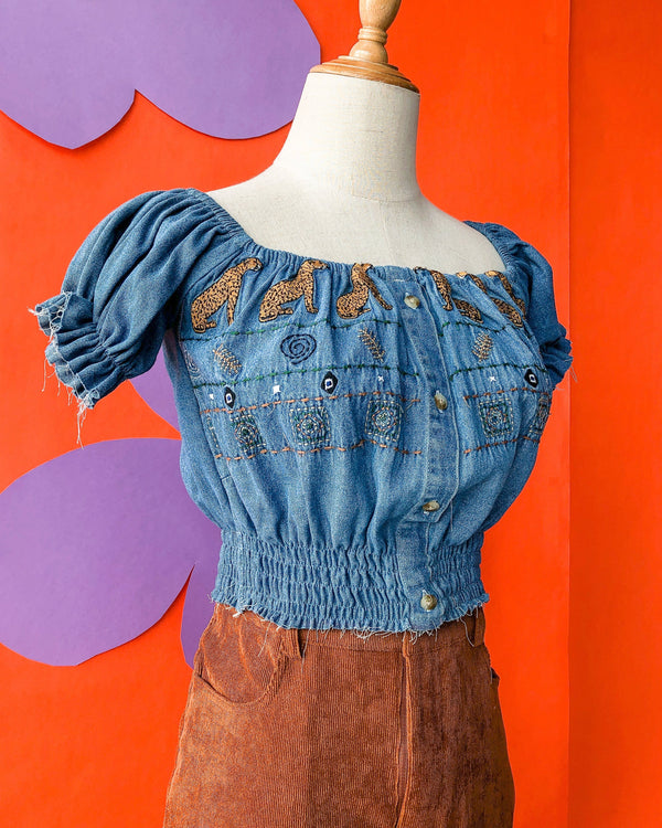 Denim Prairie Top VB5469