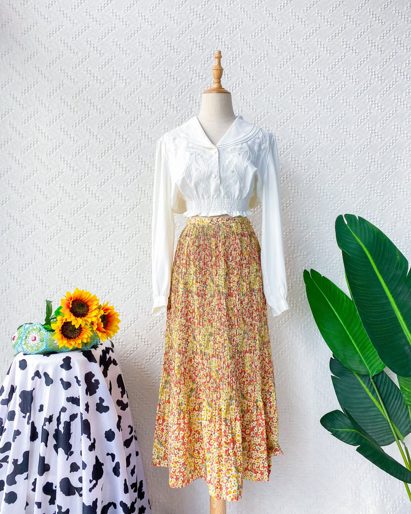 Size 26' Vintage Midi Skirt VS2297